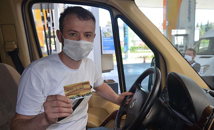 Belediyeden şoför esnafına bin depo yakıt desteği