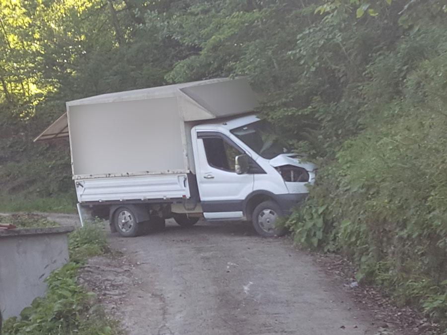 Trabzon'da freni boşalan kamyon kaza yaptı! 1 ölü, 1 yaralı