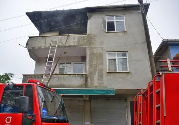 Ordu'da ev yangını korkuttu