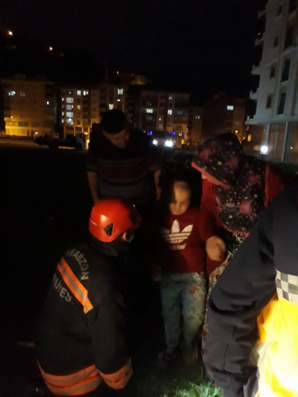 Trabzon'da ailesinin kurtaramadığı küçük çocuk için seferberlik