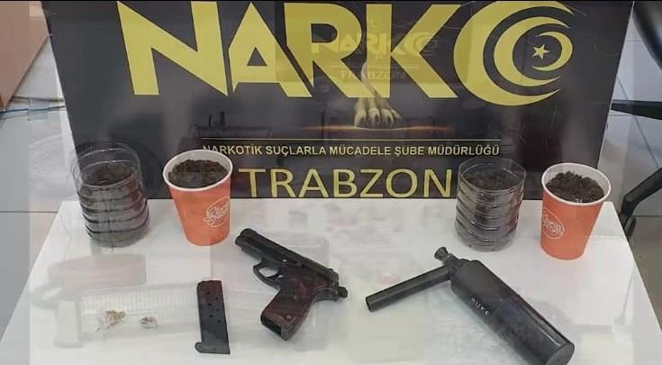 Trabzon'da uyuşturucu imalathanesine baskın