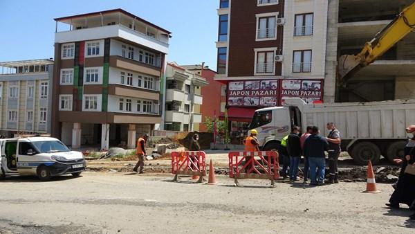 Trabzon'da panik anları! Doğalgaz borusu patladı