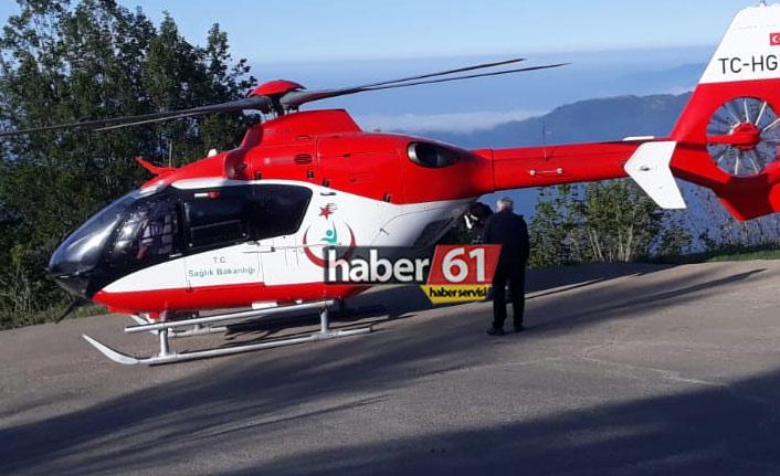Trabzon'da kaza: Yaralıların imdadına helikopter yetişti