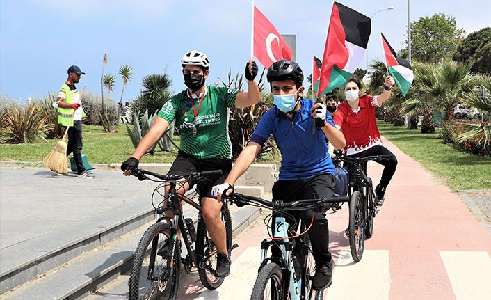 Kudüs için pedal çevirdiler