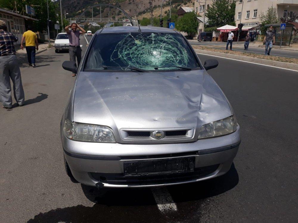 Gümüşhane'de otomobilin çarptığı yaya öldü