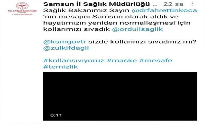 Sağlık Bakanı Koca'ya Karadeniz'den destek
