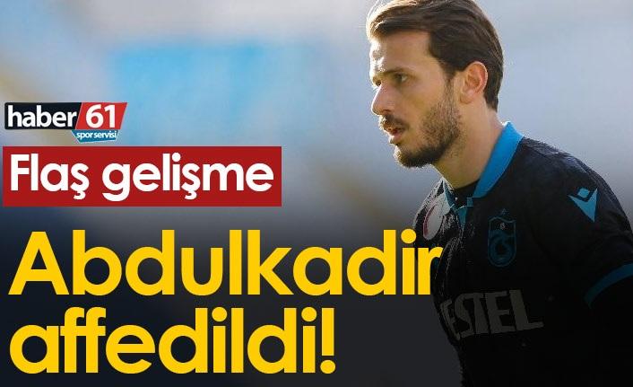 Trabzonspor'dan Abdulkadir Parmak'ın affedildiğini açıkladı