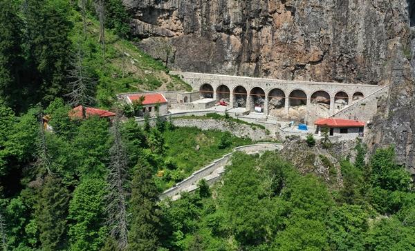 Sümela Manastırı'ndaki restorasyonun yüzde 80'i tamamlandı