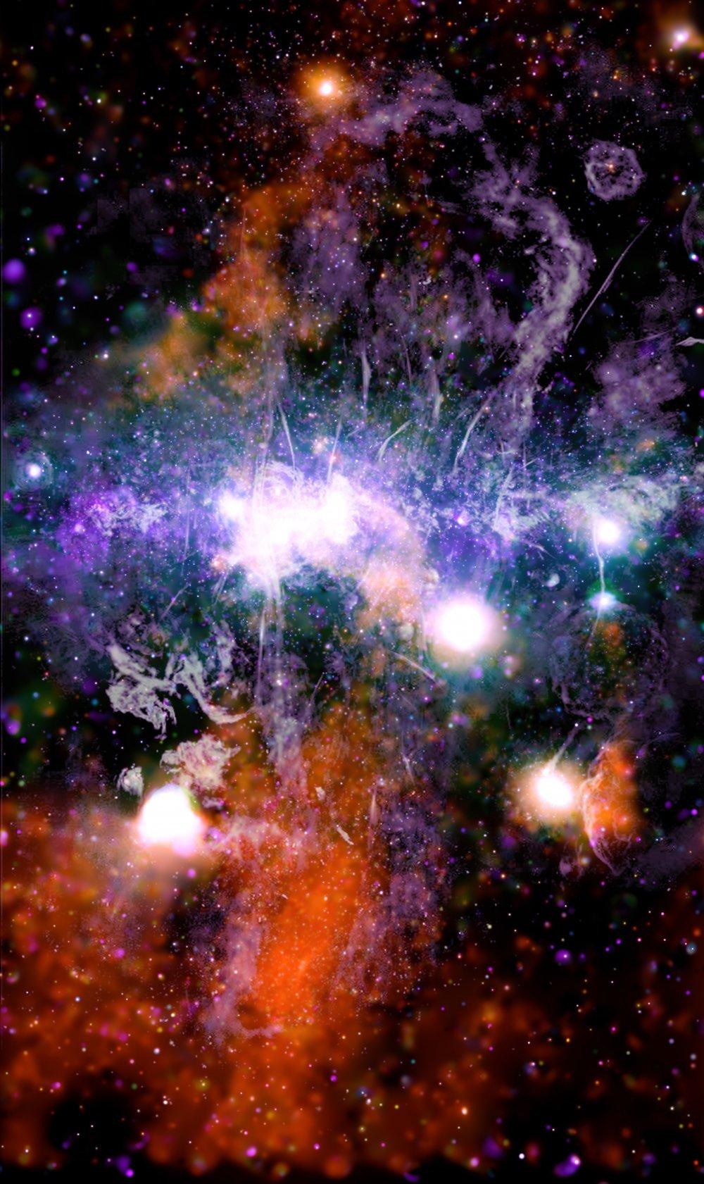 NASA Samanyolu'nun merkezinin mozaik görselini yayınladı
