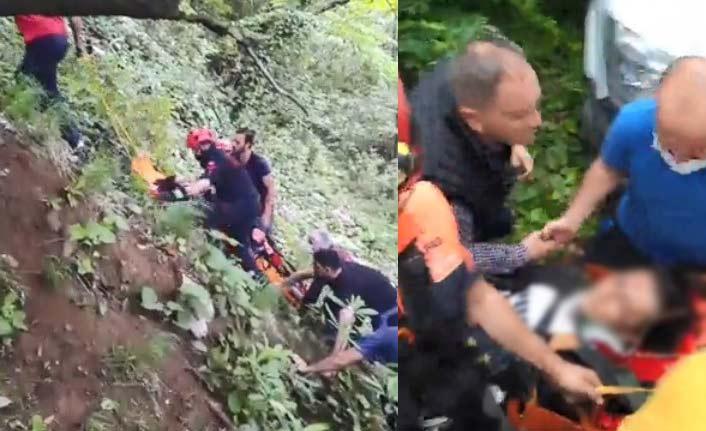 Trabzon'da feci olay! Fotoğraf çekilmek isterken kaleden düştü