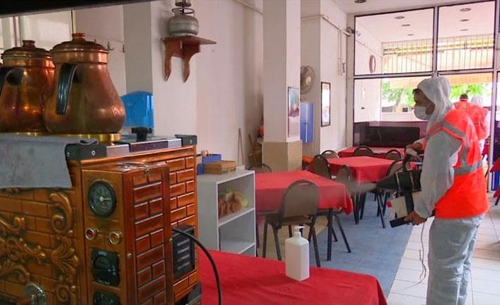 Ordu'da okul ve kahvehaneler dezenfekte ediliyor