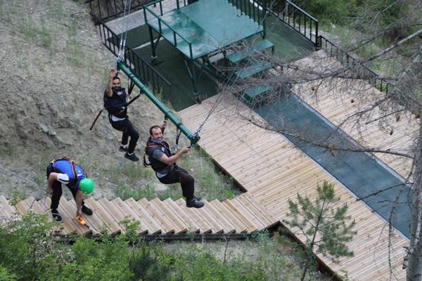 Trabzon'da Maçka macera parkı açıldı