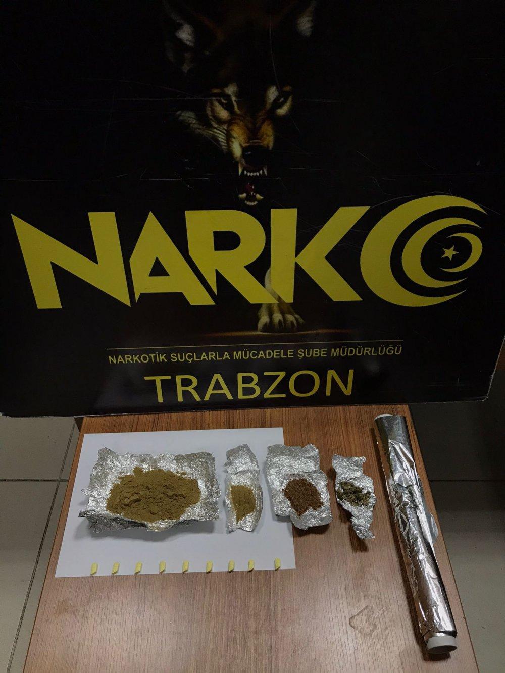 Trabzon'da uyuşturucu operasyonu! 1 kişi gözaltında