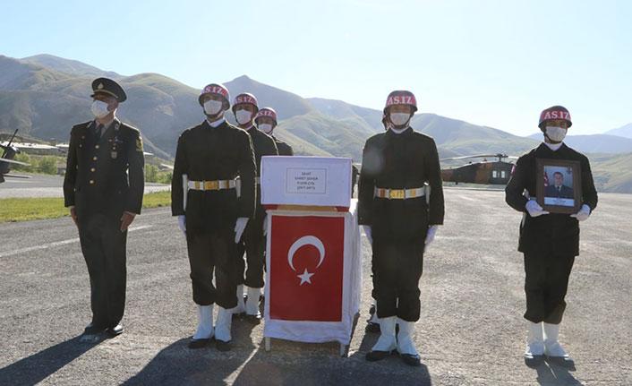 Şehit uzman çavuş törenle memleketi Samsun'a uğurlandı