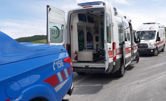 Kurbanlıkları taşıyan TIR devrildi: sürücü ve 17 hayvan öldü