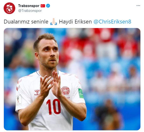 Trabzonspor'dan Eriksen mesajı