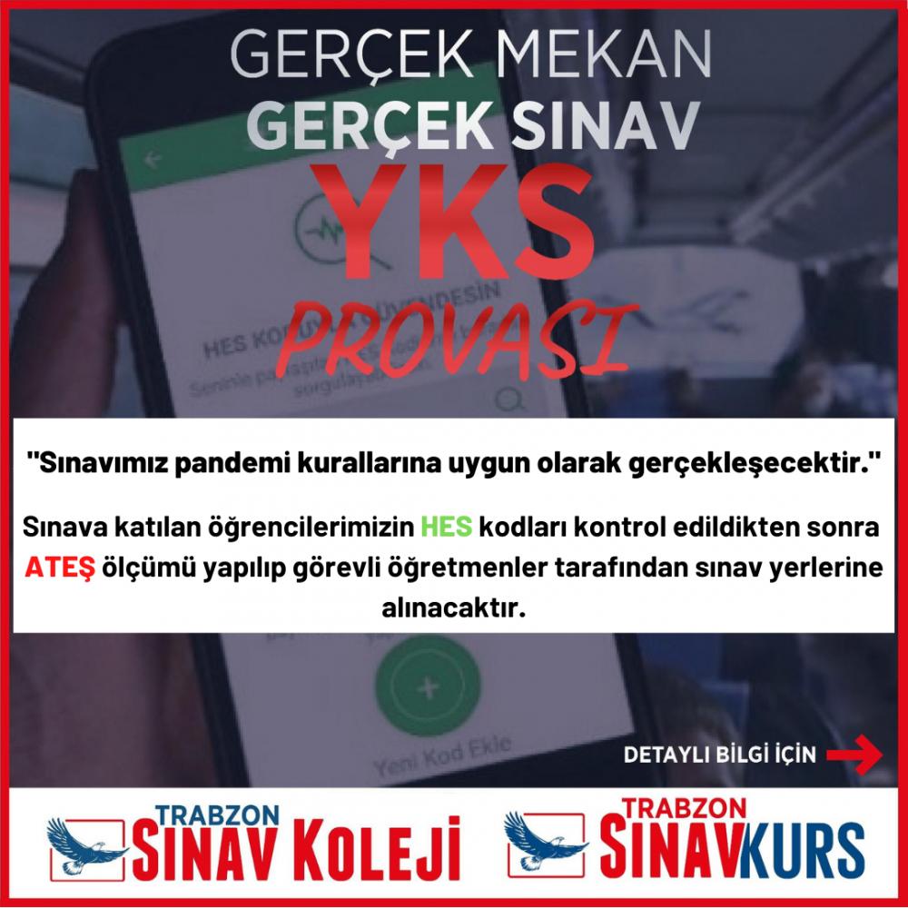 """Trabzon'da iki gün sınav provası! """"Gerçek mekân, gerçek sınav"""""""