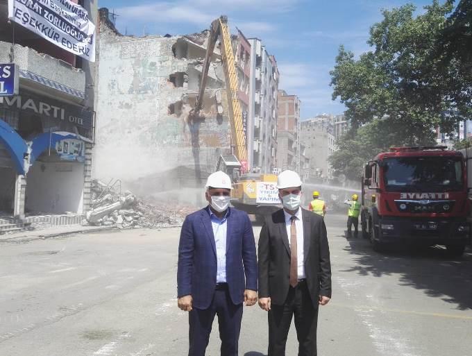 Çömlekçi'de 2. etaba geçildi, yıkımlar başladı!