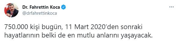 Türkiye'de Kovid-19 aşısı için 750 bin randevu