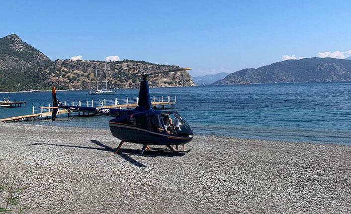 Plaja indirilen helikopterle ilgili işletme ve pilottan açıklama istenecek