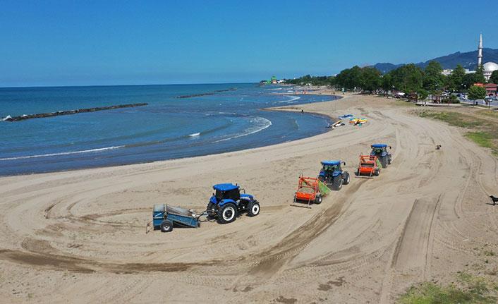 Ordu'da plajlar temizleniyor