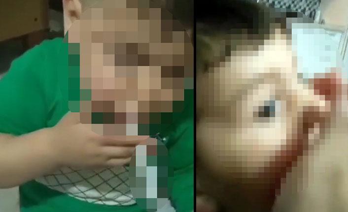 3 yaşındaki oğluna sigara içirip ölmesi için ilaç vermiş
