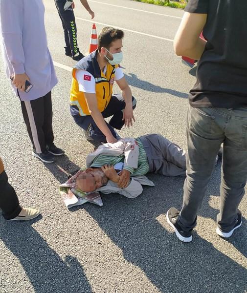 Trabzon plakalı kamyonet kaza yaptı! 1 Yaralı