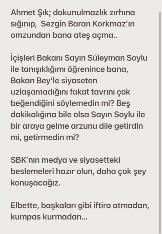 Veyis Ateş'ten Ahmet Şık'la ilgili Soylu iddiası
