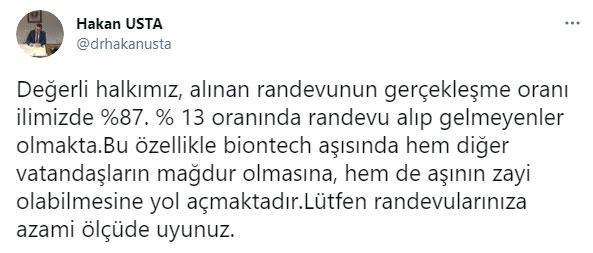 Trabzon'da aşı uyarısı! Yüzde 13 kayıp var
