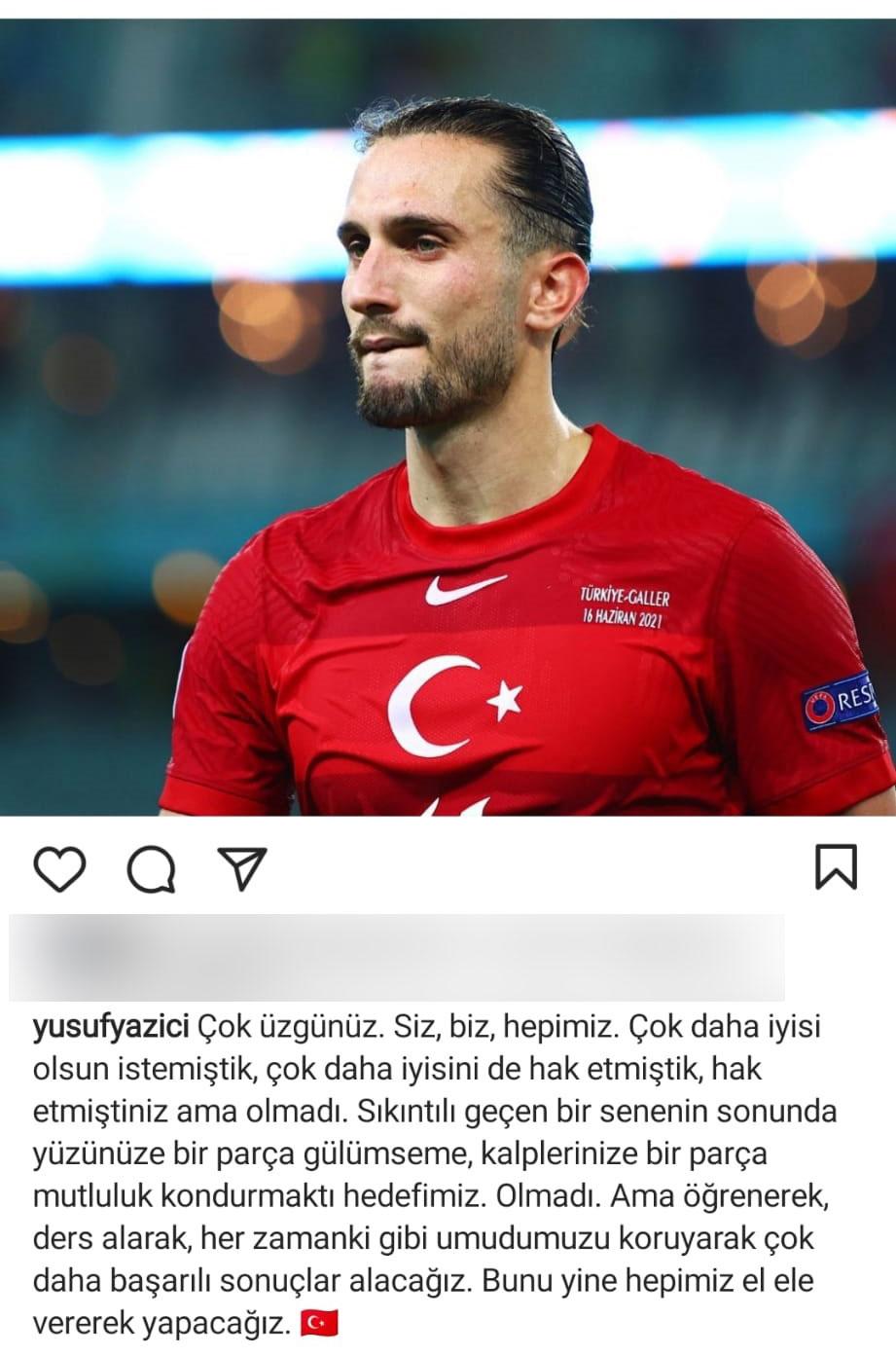 """Yusuf Yazıcı: """"Çok üzgünüz. Siz, biz, hepimiz"""""""