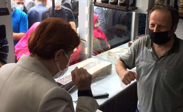 Akşener'den esnaf ziyareti: Askıda döner önerisi