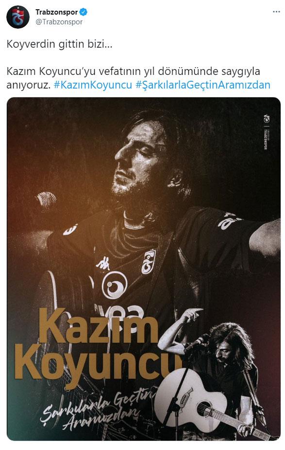 Trabzonspor'dan Kazım Koyuncu mesajı