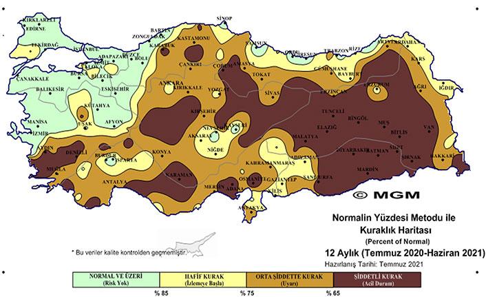 Meteoroloji'nin kuraklık haritası korkuttu! Doğu Karadeniz'de o listede