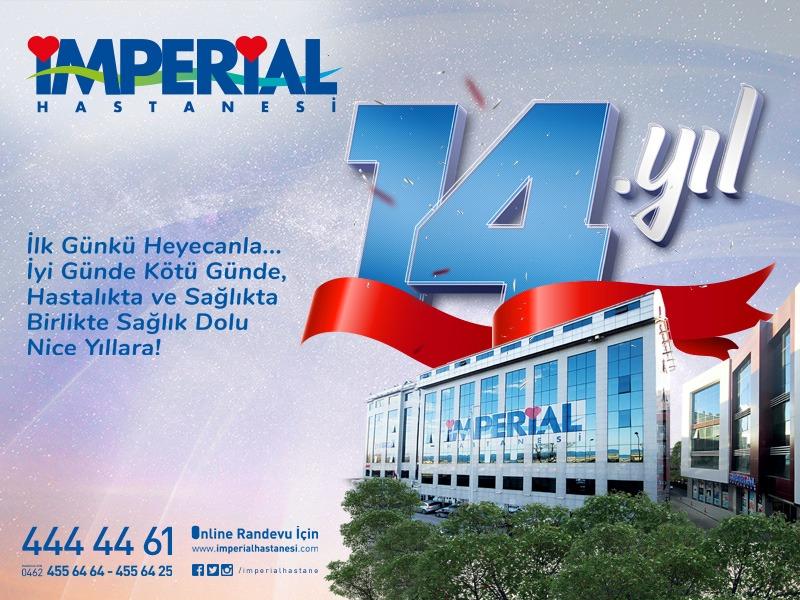 Özel İmperial Hastanesi 14 yaşında