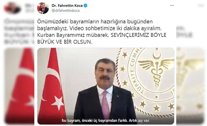 Sağlık Bakanı Koca'dan bayram mesajı