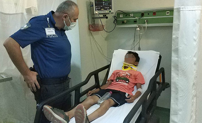 11 yaşındaki çocuk babasının patronuna ait ciple kaza yaptı
