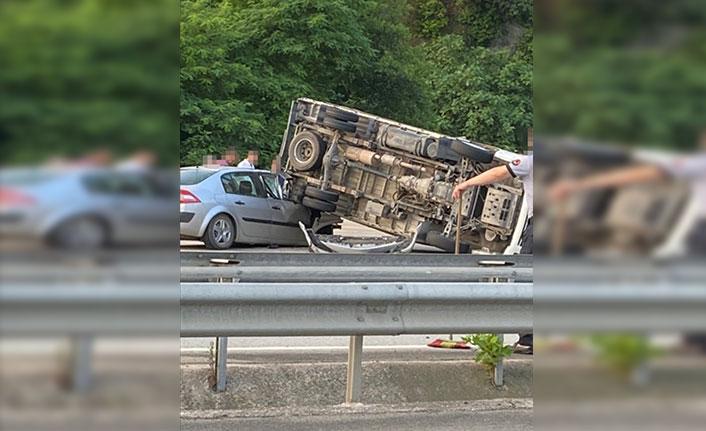 Giresun'da trafik kazası 2 yaralı