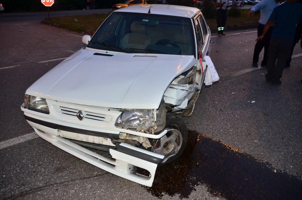 Samsun'da otomobil takla attı: 3 yaralı