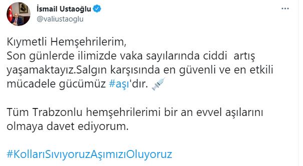Trabzon Valisi uyardı! Vaka sayılarında ciddi artış