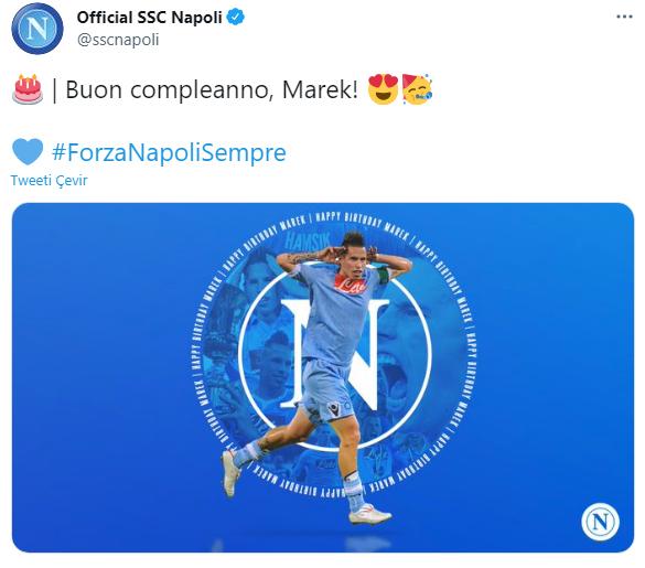 Napoli'den Hamsik mesajı