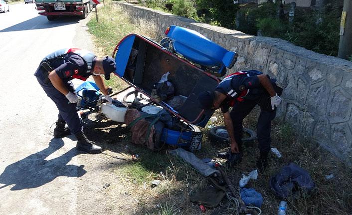Yabancı plakalı tırın çarptığı motosikletli hayatını kaybetti