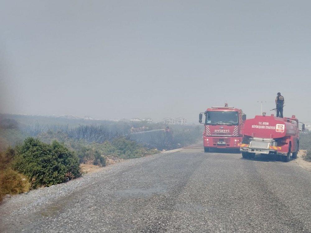 Bodrum ve Didim'de de yangın