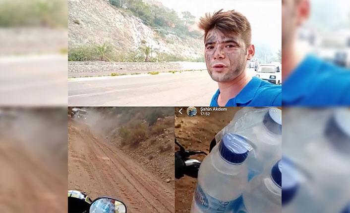 Marmaris'teki yangında itfaiyecilere su taşırken hayatını kaybetti
