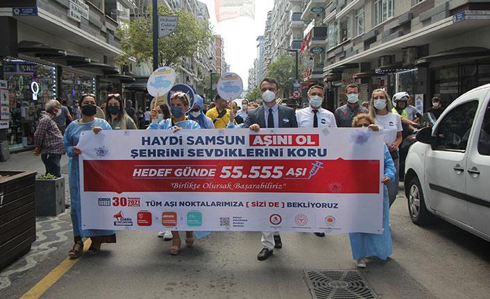 Samsun'da 'Hedef 1 Günde 55.555 Aşı' kampanyası