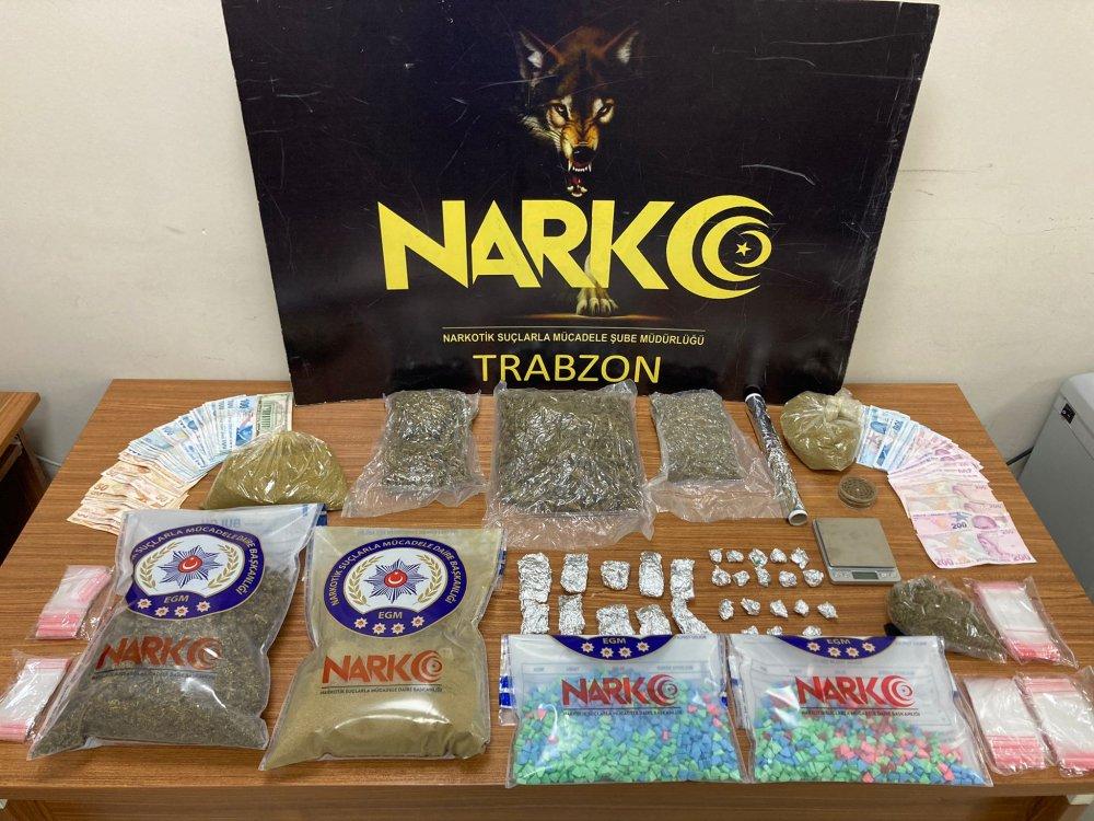 Trabzon'da uyuşturucu operasyonu! Neler yok ki!