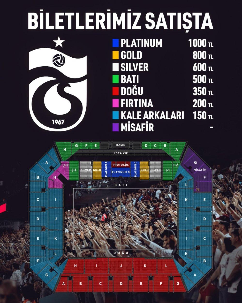 Trabzonspor-Molde maçı biletleri satışa çıkıyor
