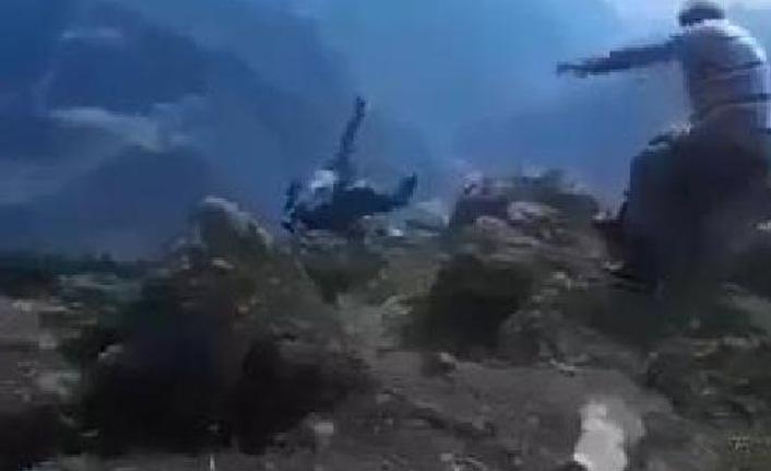 Artvin'de şok olay! Kayınvalidesinin uçurumdan düşüş anını görüntüledi