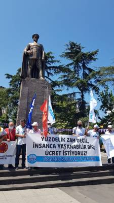 KESK Trabzon'da toplu sözleşme için toplandı! 6 maddelik teklif