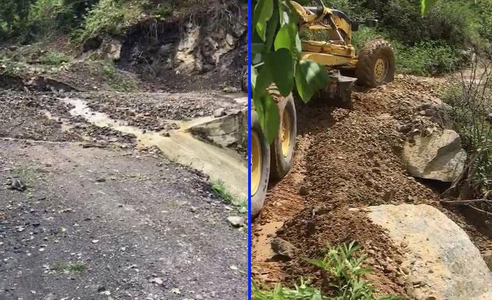 11 köy yolu ulaşıma kapandı