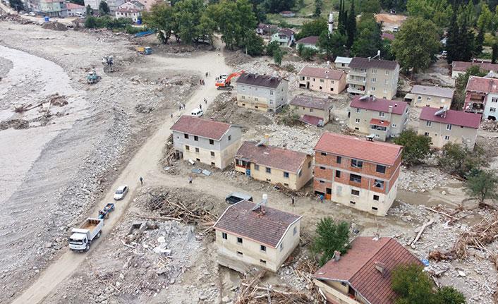 Selde hasar alan 19 bina tahliye ediliyor